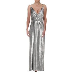 NWT Laundry by Shelli Segal Metallic Evening Gown